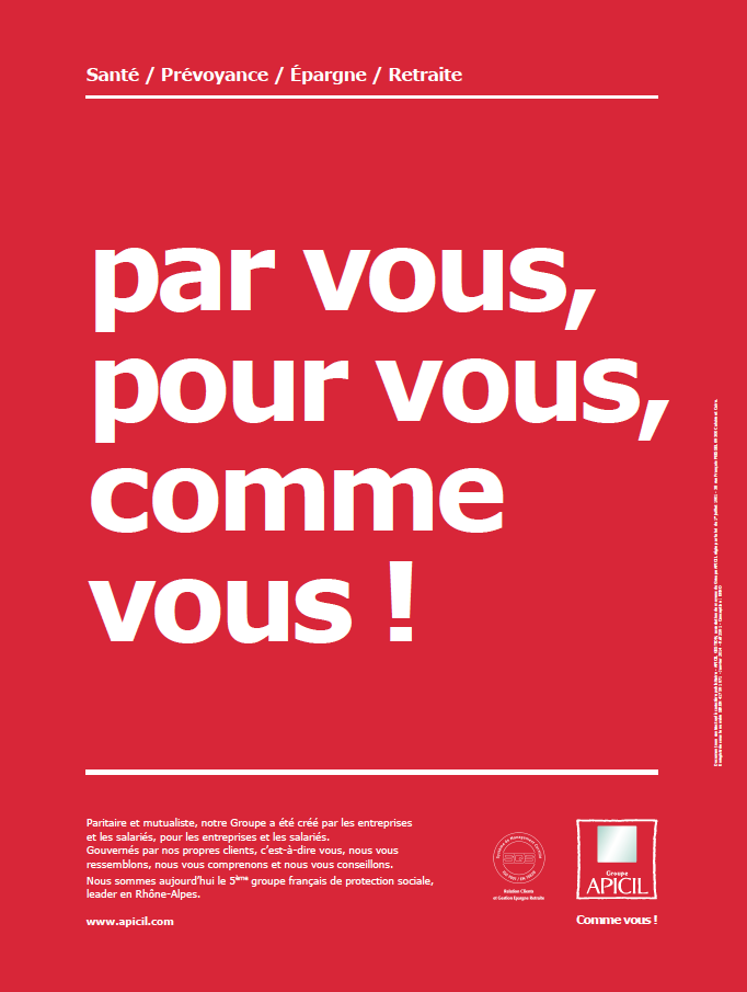 Affiche corporate APICIL