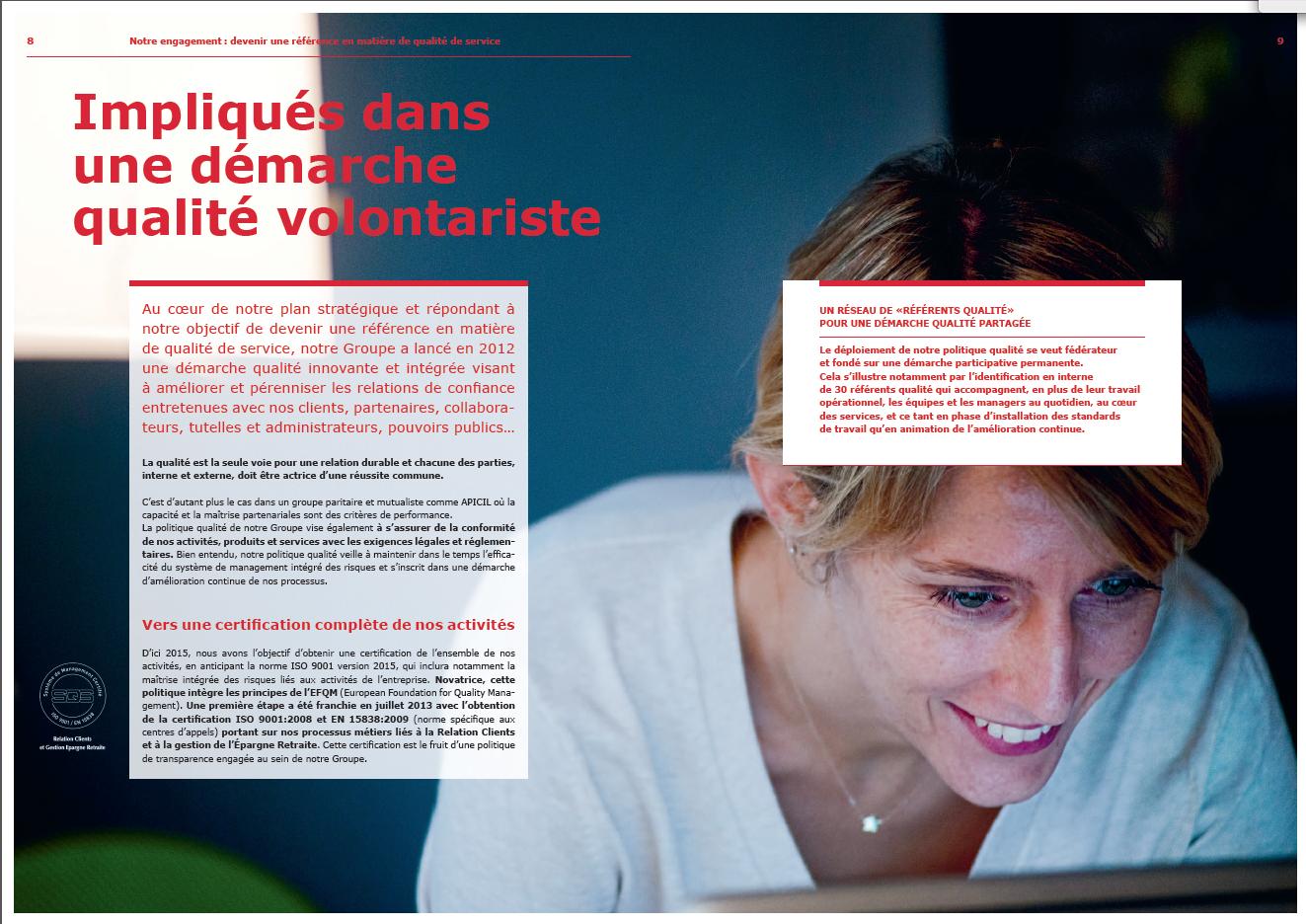 Plaquette institutionnelle - page intérieure - Groupe APICIL