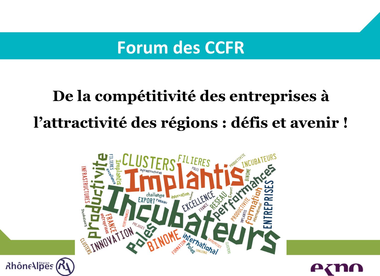 Forum des Agences Régionales de Développement - séminaire animé par EKNO